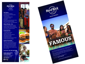 HardRock Rack Card Graphic Design and Printing Palm Desert
