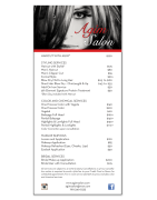 Hair Salon Menu Graphic Design and Printing Palm Desert