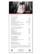 Hair Salon Menu Graphic Design and Printing Palm Desert