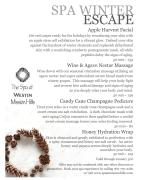 spa menu graphic design sample